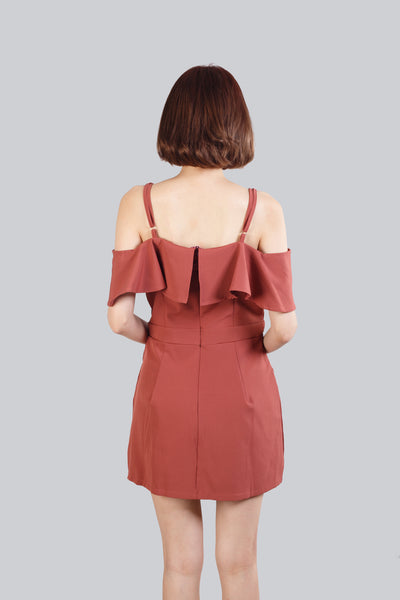 SYLVIA PLAYSUIT BRICK