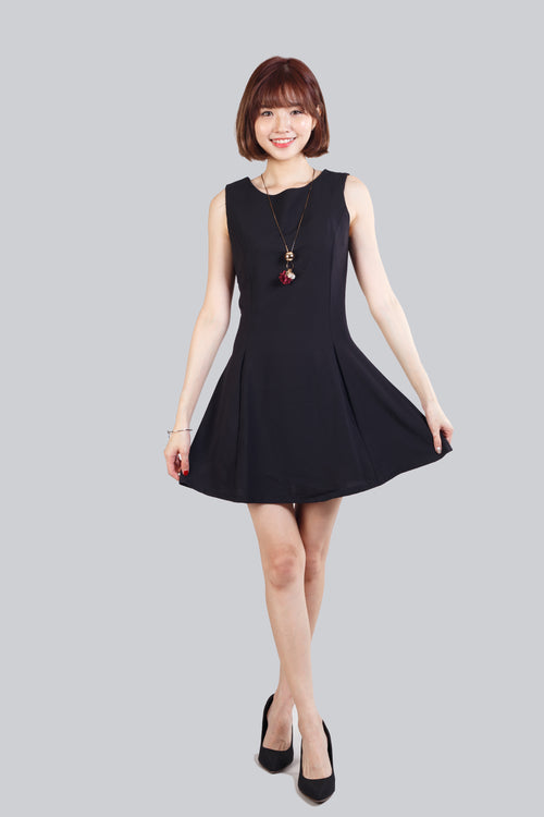 ETHEL FLARE BASIC DRESS BLACK