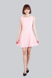ETHEL FLARE BASIC DRESS LIGHT PINK