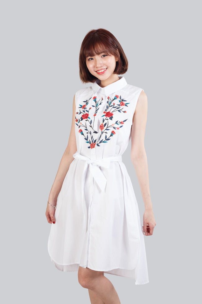 KATHLEEN EMBROIDERY DRESS