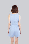 CADY PLAYSUIT CHECKERED LIGHT BLUE