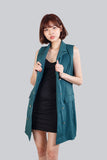 ENGLISH COLLAR JACKET DRESS GREEN