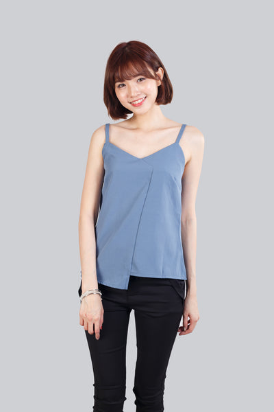 VIV ASYMMETRIC TOP BLUE