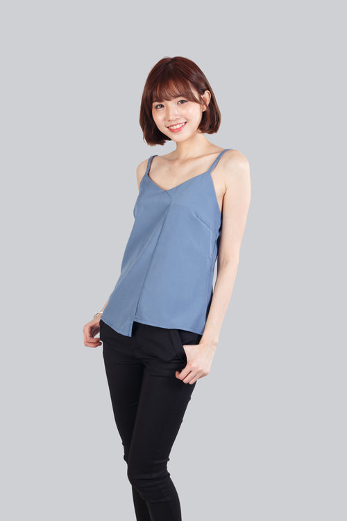 VIV ASYMMETRIC TOP ASH BLUE