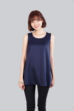 ALCEE BASIC FLARE TOP NAVY