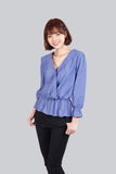 BELLE STRIPES TOP BLUE
