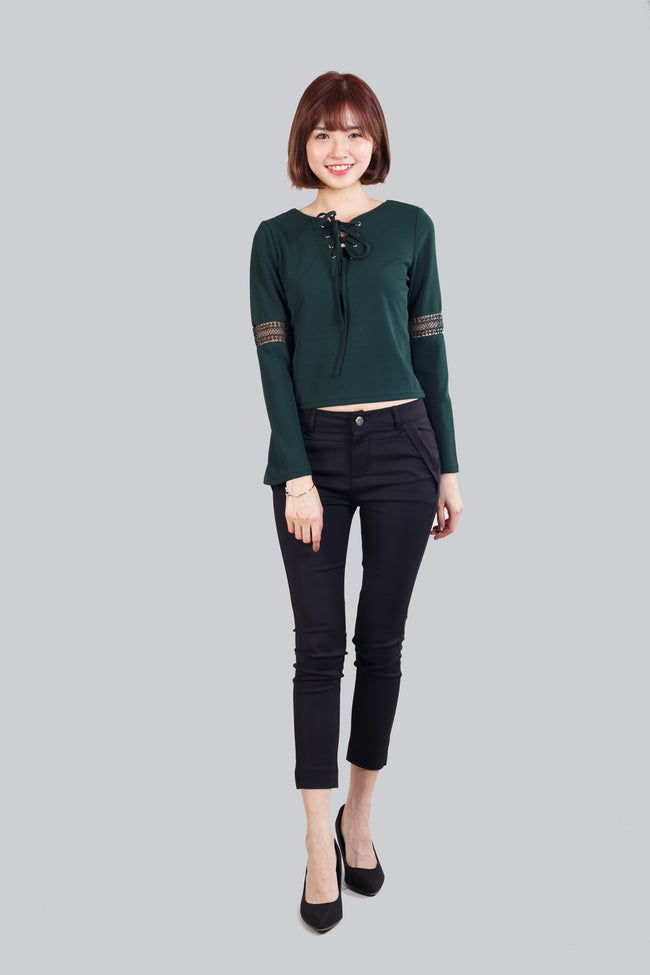 GINNY TOP GREEN