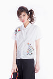 CARLY EMBROIDERY BLOUSE  WHITE
