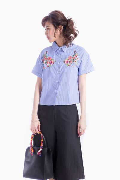 CATIE EMBROIDERED TOP