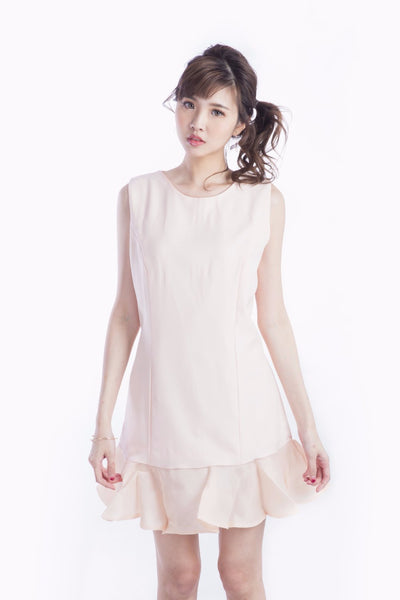 BLANCHE FLOUNCE HEM DRESS