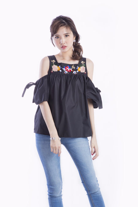 BEVERLY COLLAR TOP WHITE