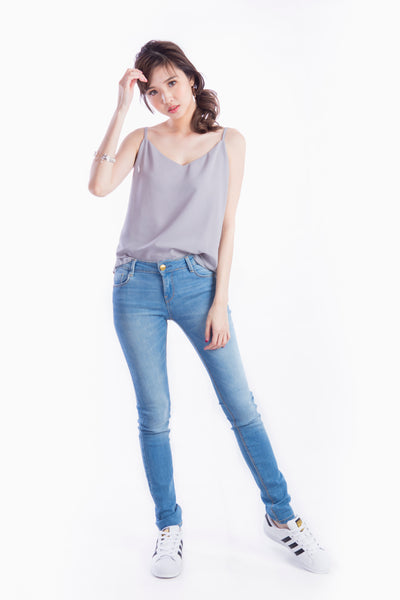 MIKKI CAMISOLE TOP GREY