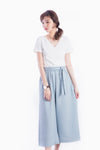 ALYSA TIE WAIST PANTS GREY