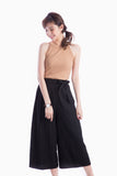 ALYSA TIE WAIST PANTS BLACK