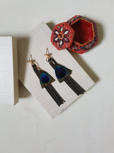BOHEMIA FEATHER EARRING