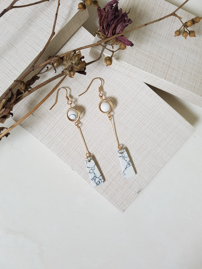 NATURAL MARBLE EARRING