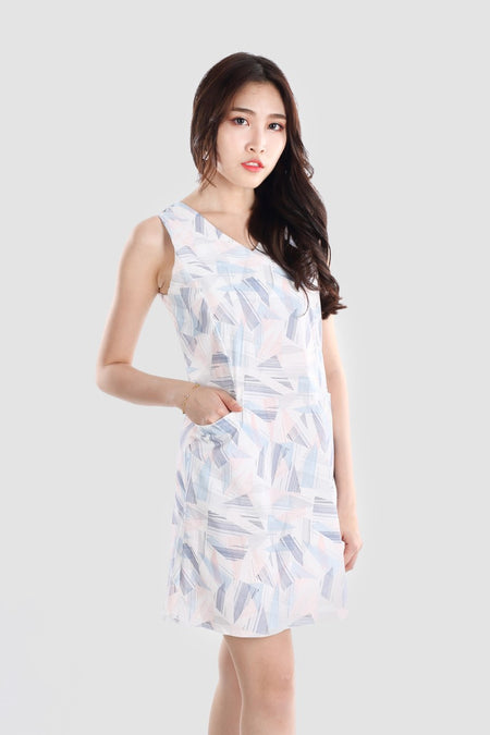 BREE FLOWER SHIRT DRESS BLUE