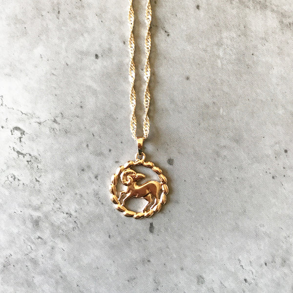Zodiac necklace | Ram