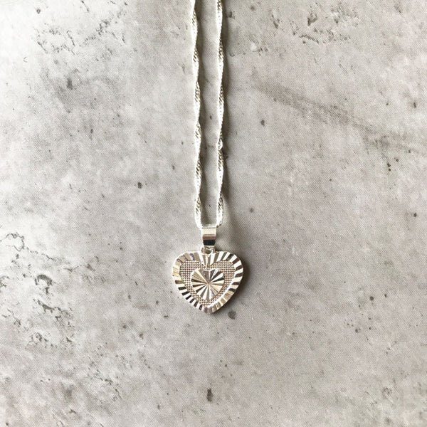 Hearts of silver necklace