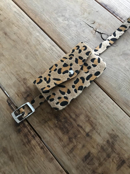 Leopard belt bag - brown