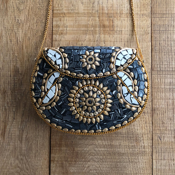 Mozaic bag party black/gold