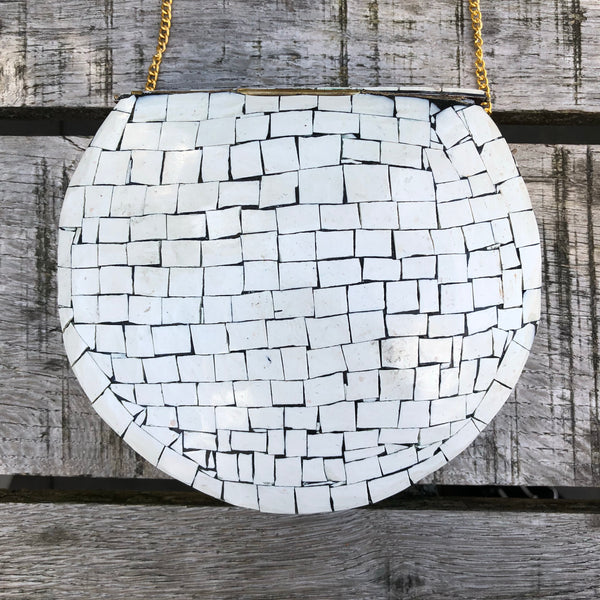 Mozaic bag white