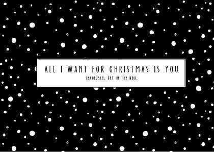 All I want for Christmas | Postcard