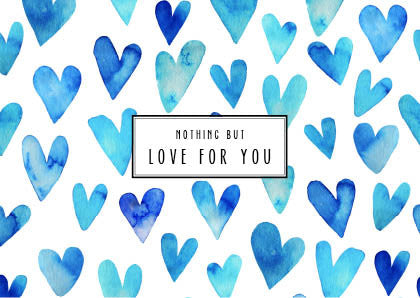 Nothing but love for you | Postcard