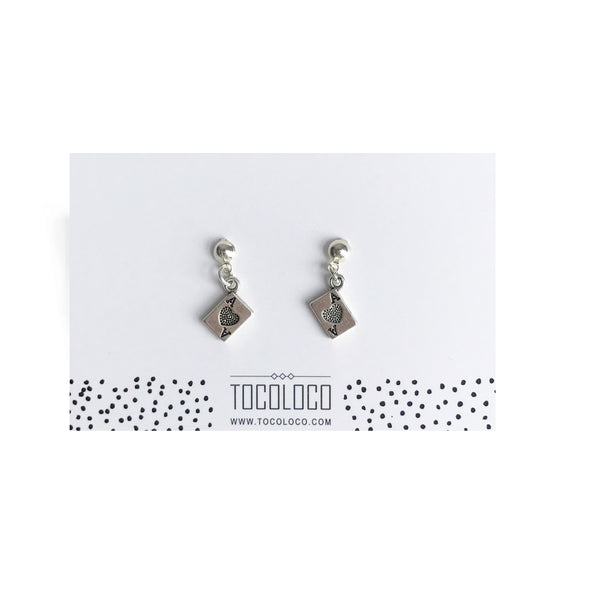 Ace earrings - Silver