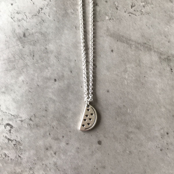 You're one in a melon necklace - silver