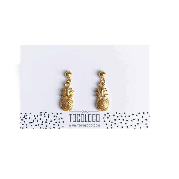 You're the Pina to my Colada earrings - gold