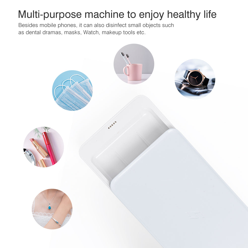 Cell Phone UVC Sterilizer and Wireless Charger Multi-Function Disinfection Box - GreenSun UVC Sterilizer Lamp