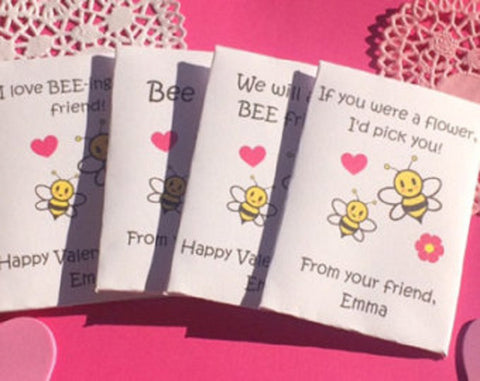 Bee my Valentine seed packets