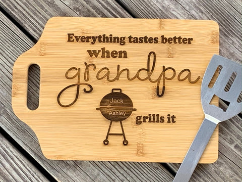 Personalized cutting board for Dad, Father's Day Gift, Dad Gift