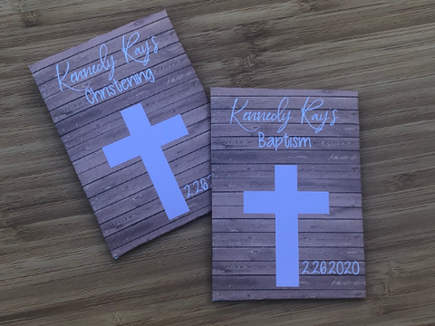Pink Cross Baptism Seed Packets
