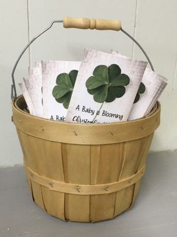 Shamrock Baby Shower Seed Packets