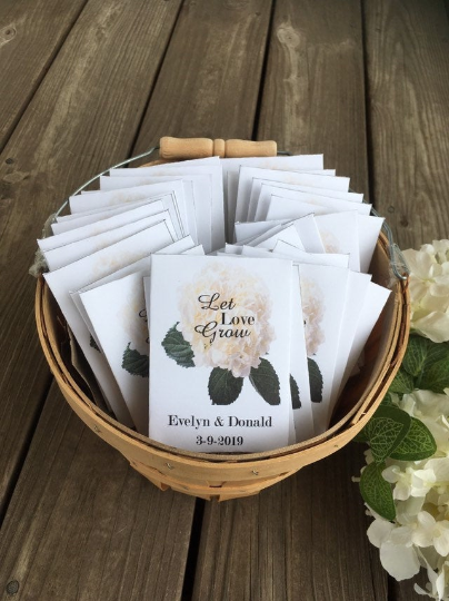 Hydrangea Wedding Seed Packets