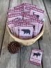 Rustic Red Buffalo Check  Baby Shower Seed Packets : Bear, Moose, Deer and Fox Mix