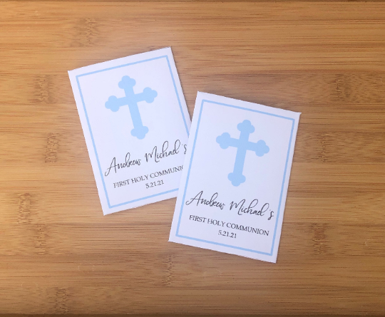 Baptism Seed Packets Cross