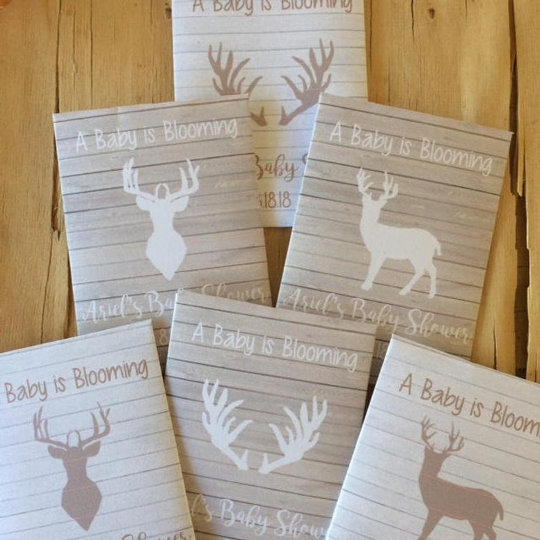 Deer Baby Shower Seed Packet Favors, hunting baby shower decorations, antler party favors, oh deer baby shower