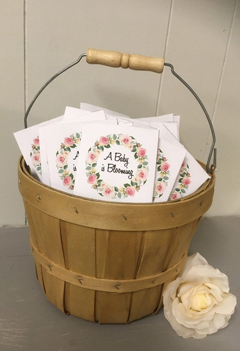 Custom Baby Shower Favors seed packets, Baby Shower Favors girl, floral favors