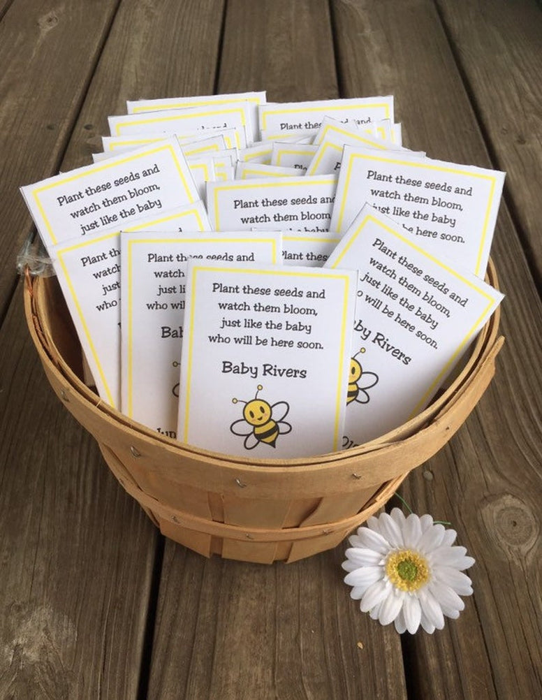 Bee Baby Boy Baby Shower Seed Packets Favors