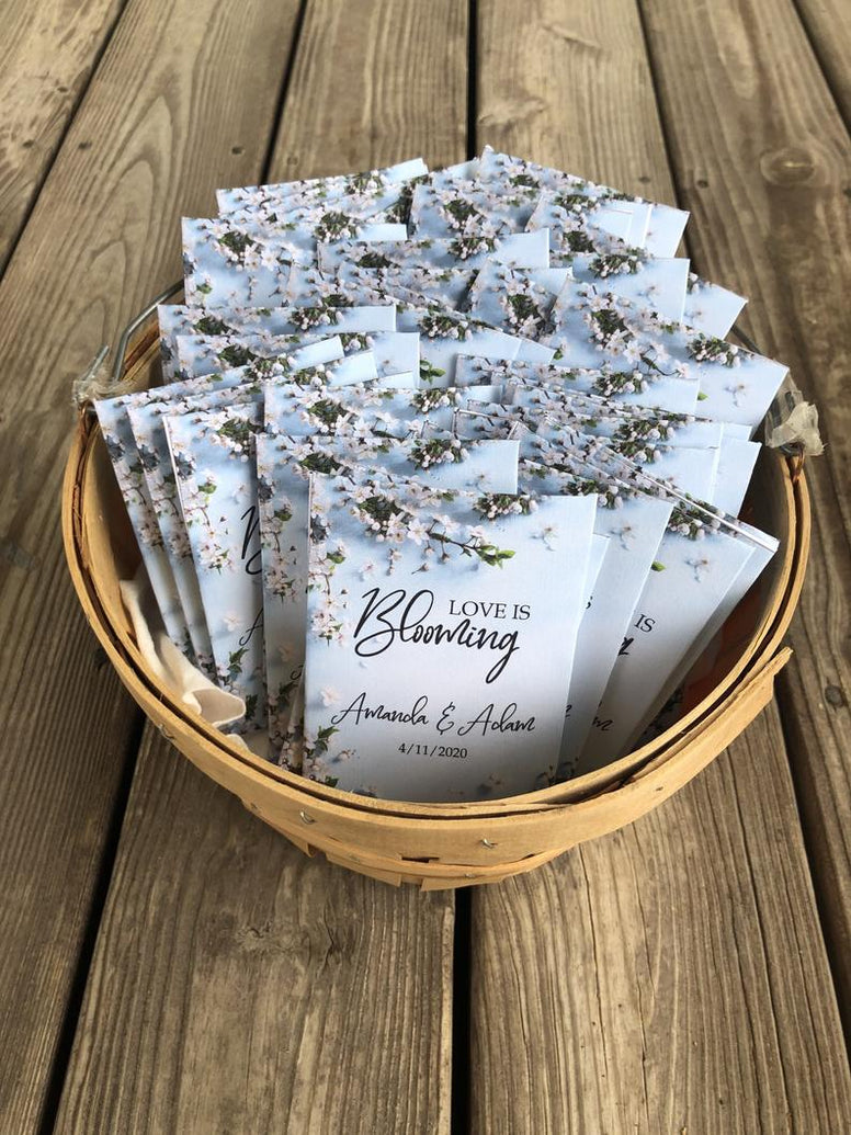 Wedding Seed packets blue favors