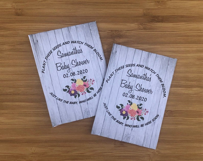 Baby Shower Favors, Baby Girl Shower Favors, Baby Shower gift, floral baby shower, floral baby shower decorations, pallet wood gifts