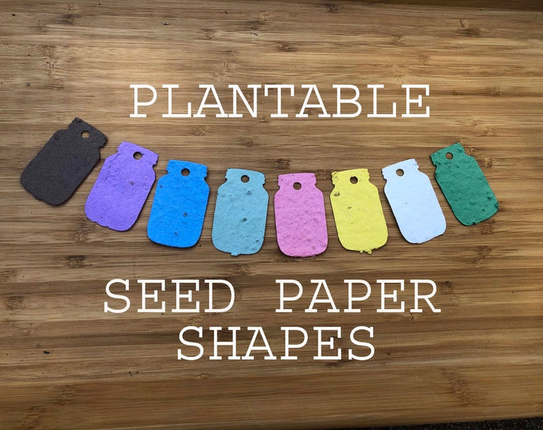 Plantable paper baby shower favors
