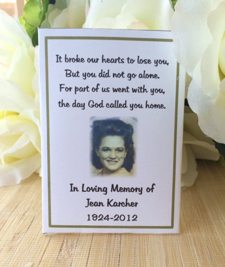 memorial seed packets favors gift