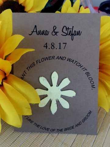 Plantable Seed paper kraft cards - Favor Universe