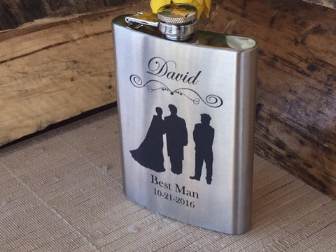 Groomsmen, Best Man, Groom Flask - Favor Universe