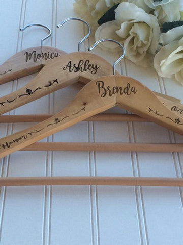 Personalized Wedding hanger for bride and/or wedding party