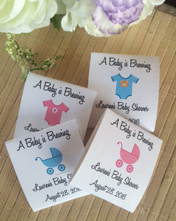 Onesie Baby Shower Tea Packets - Favor Universe